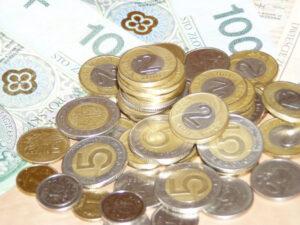 banknoty - monety - złotówki pożyczka